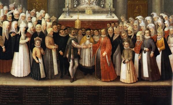 Boda de hidalgos en Begoña de Francisco Vázquez de Mendieta, 1607